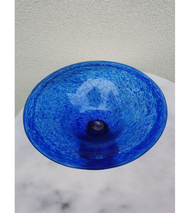 Stiklinė vaza, sausaininė spalvoto stiklo Jan-Stevens Glass kolekcinė. Kaina 42