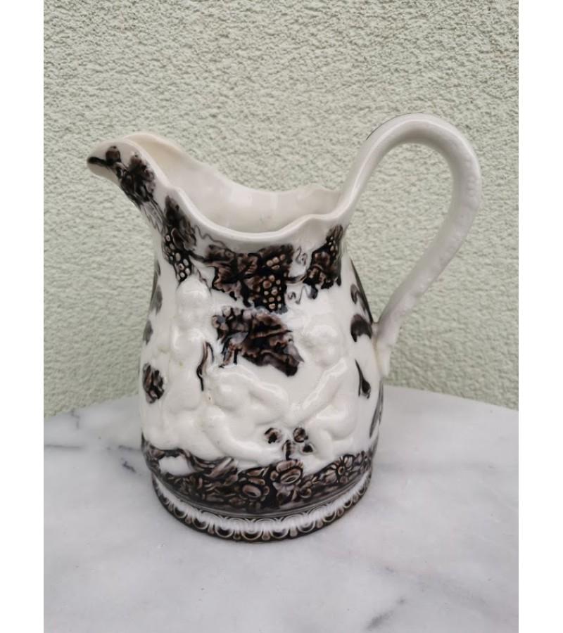 Ąsotis antikvarinis fajanso Gefle mullbär. Kaina 32