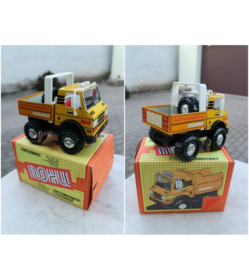 Automobilis sunkvežinis skardinis, prisukamas, nenaudotas tarybinių laikų. Kaina 67