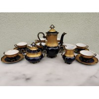 Servizas porcelianinis JLMENAU, Echt Cobalt, Germany. 6 asmenims. Puodelio talpa 50 ml. Kaina 92
