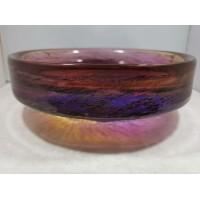Vaza dubuo storo, masyvaus, spalvoto stiklo  Mid-century modern stiliaus. Autorinė. Kaina 62