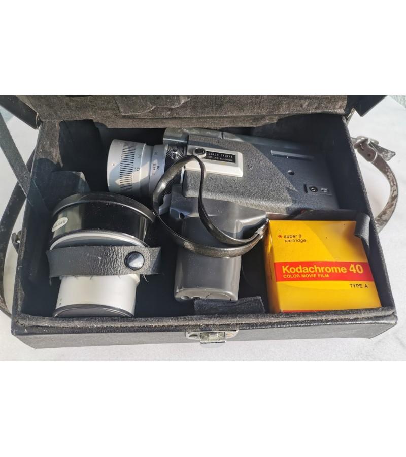 Filmavimo kamera Canon zoom 518 super 8. Made in Japan. Kaina 72