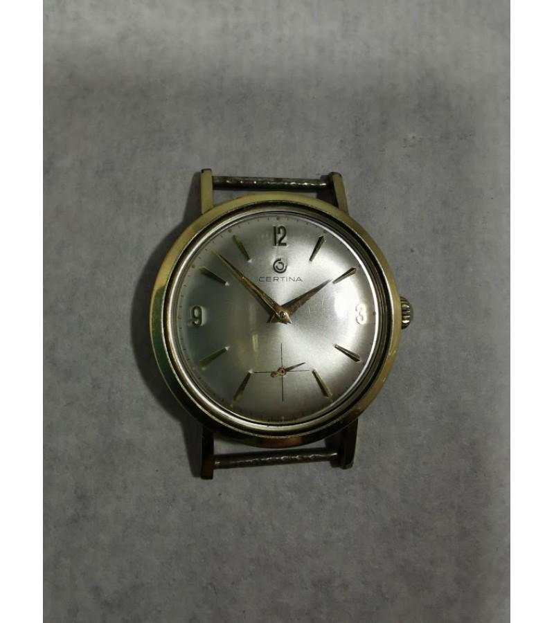 Laikrodis šveicariškas CERTINA Swiss made. 17 jewels, gold plated. 1960 m. Kaina 72