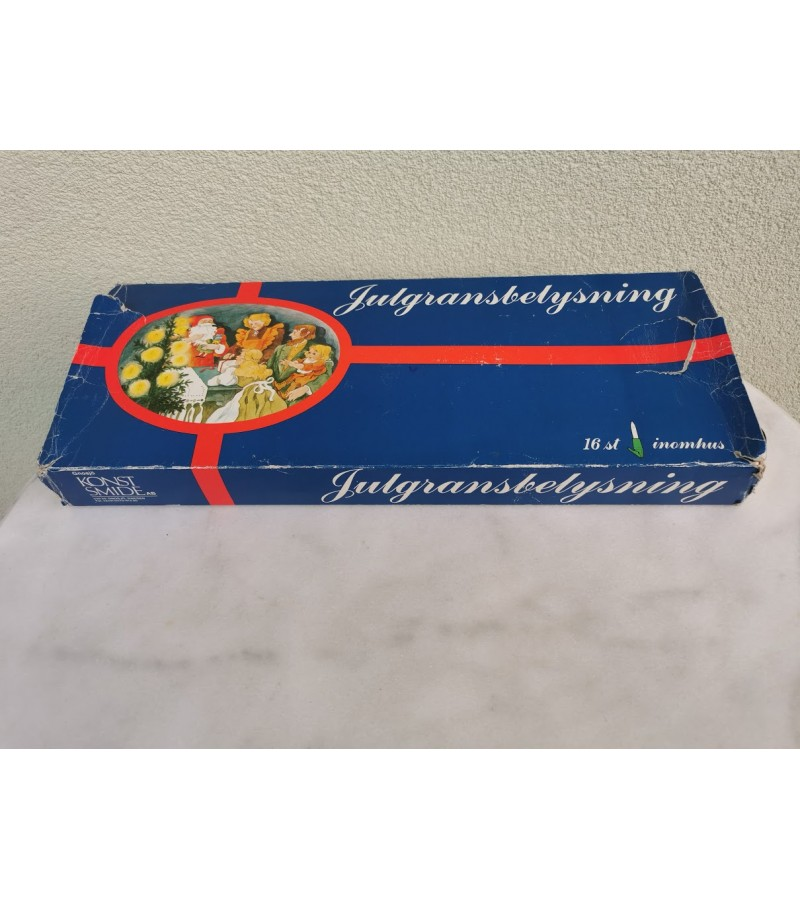 Lemputės kalėdinės eglutės vintažinės. Švedija. Veikiančios. Kaina 26