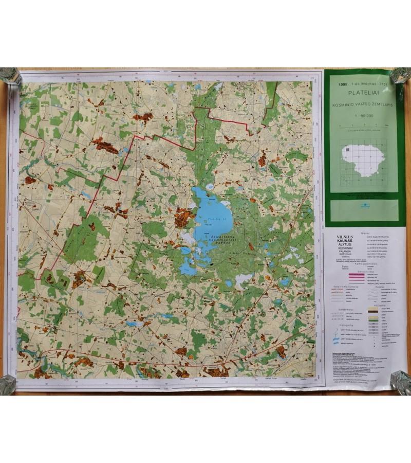 Žemėlapiai, 1998 m. Kosminio vaizdo žemėlapiai laminuoti, 1-as leidimas: Jieznas, Elektrėnai, Plateliai, Švenčionys, Arimonys. Kaina po 22