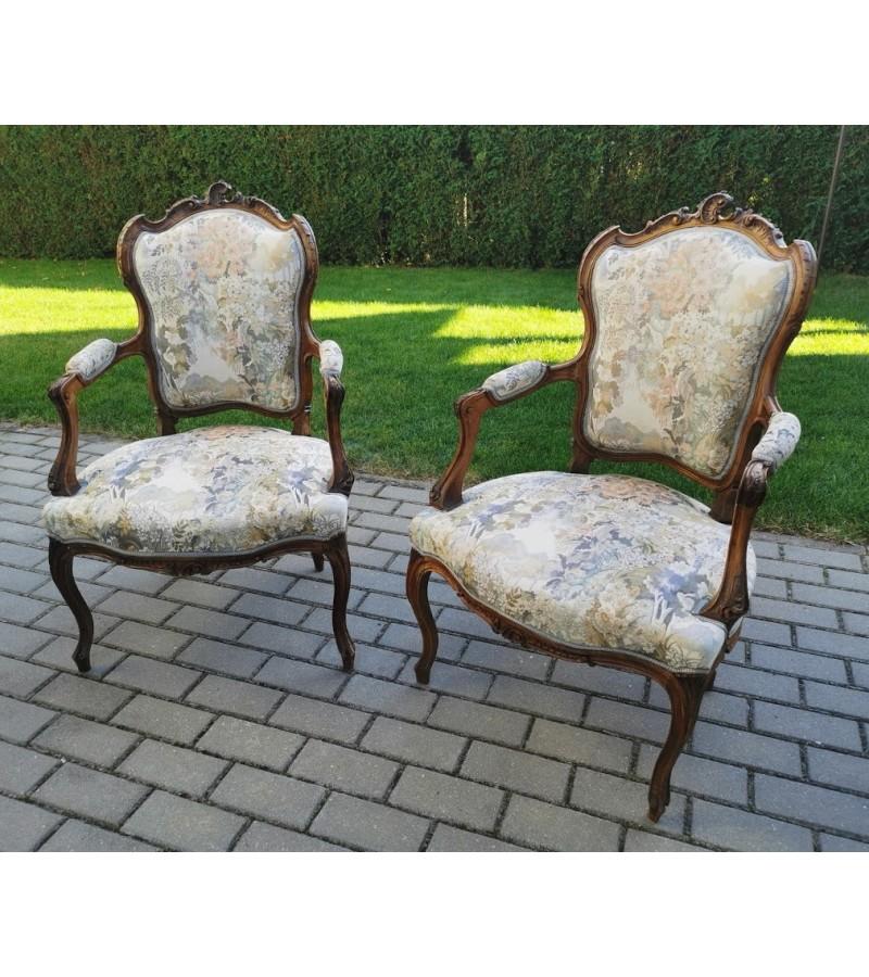 Foteliai, krėslai antikvariniai prancūziški. 2 vnt. Kaina po 158