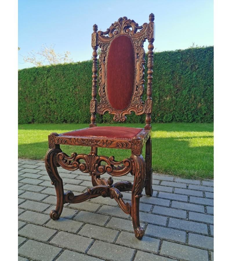 Kėdė antikvarinė drožinėta. Kaina 275