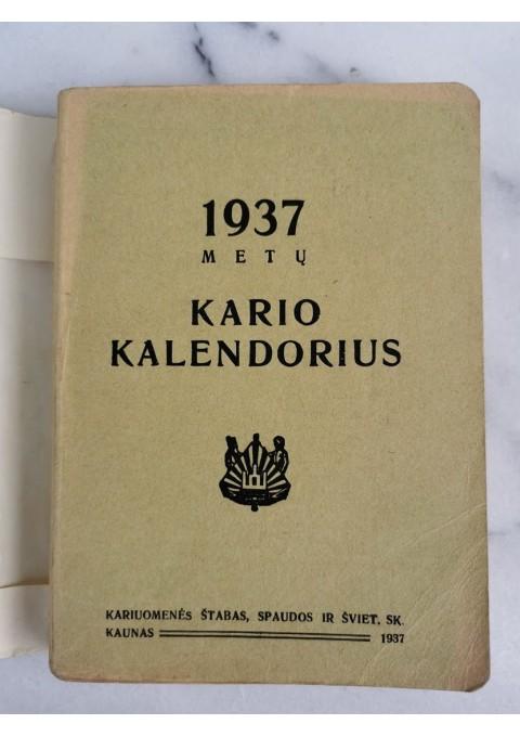 Knyga 1937 m. Kario Kalendorius. Kaina 42