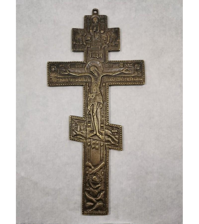 Kryžius provoslavų bronzinis. Svoris 400 gr. Kaina 68