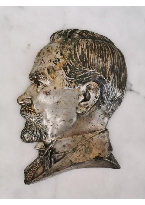 Bareljefas Prezidentas Antanas Smetona. Šaliamoras Bronius, Tarpukaris. Originalas. Kaina 385