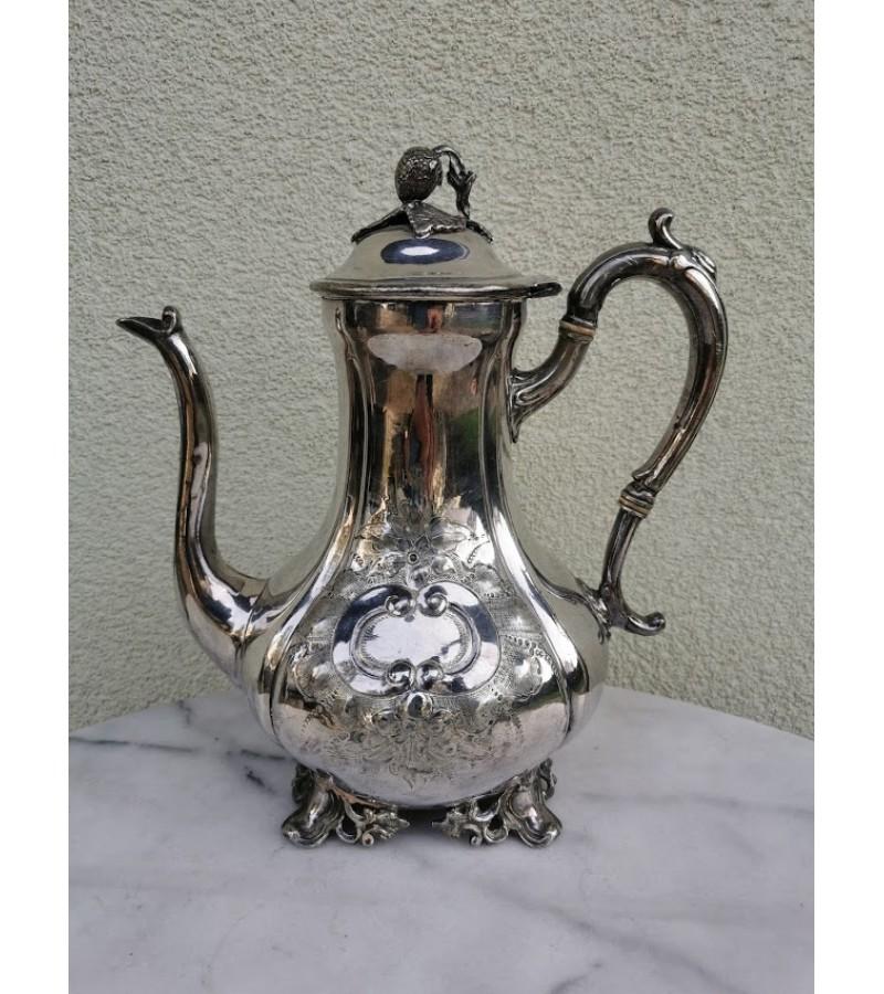 Arbatinis, kavinukas antikvarinis, sidabruotas. Kaina 52