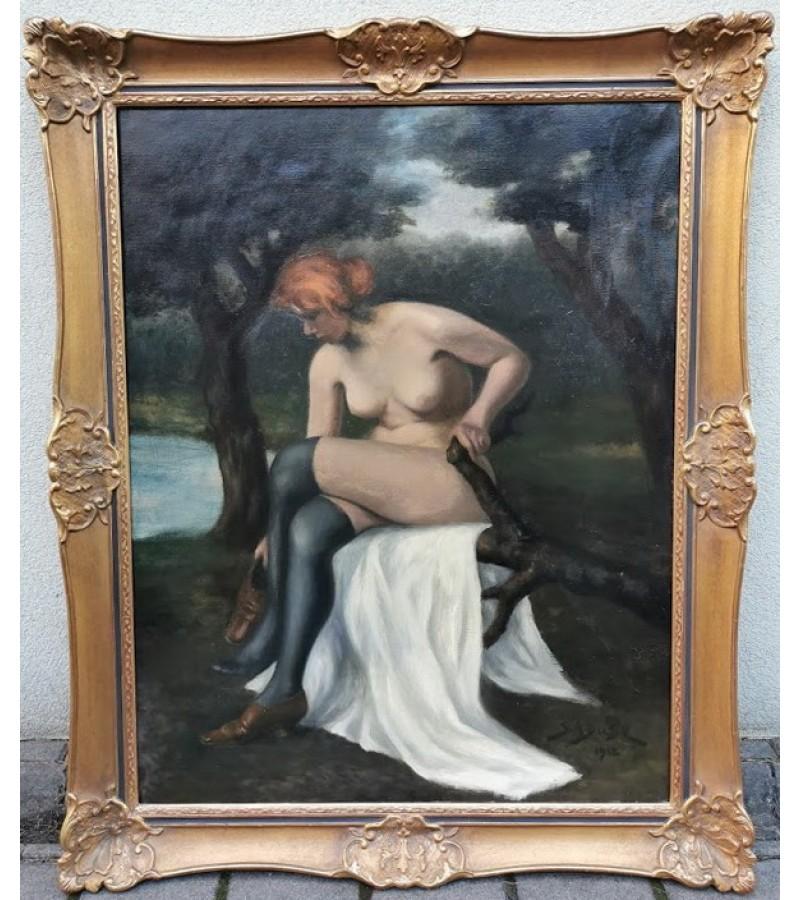 Paveikslas didelis - Moteris. Drobė. 1912 m. Kaina 620