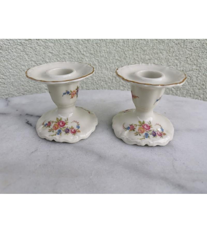 Žvakidės porcelianinės, Rosenthal Selb-Germany Pompadour. 2 vnt. Kaina po 13