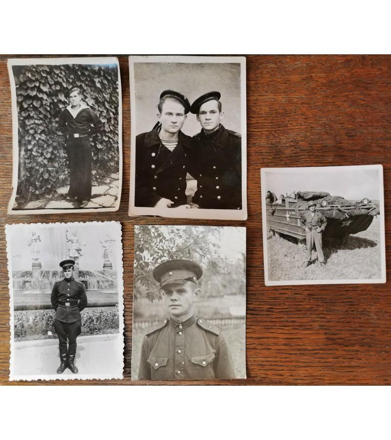 Nuotraukos, kareiviai, 4-5 dešimtmetis. Kaina po 1-2.