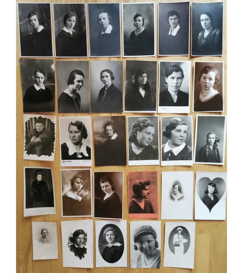 Nuotraukos Lietuvos tarpukario moterų. Kaina po 2