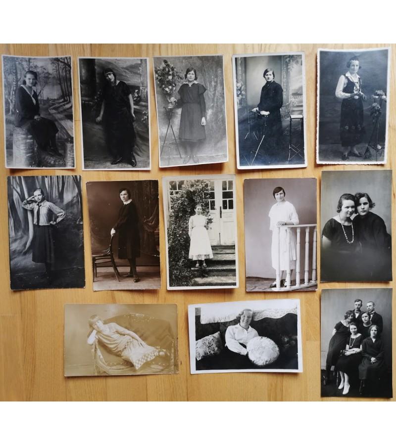 Nuotraukos Lietuvos tarpukario moterų. Kaina po 3