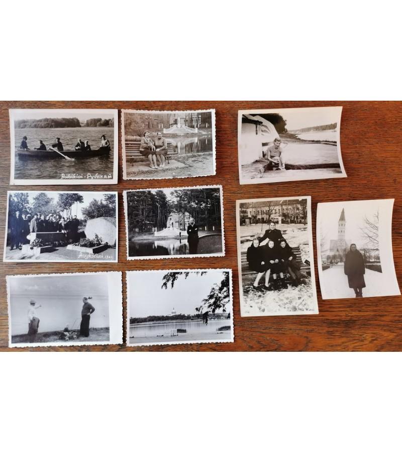 Nuotraukos Lietuvos vietovių. Kaina po 2 PARDUOTA su Birstono banginiu ir 3 merginos sedi ant suolo.