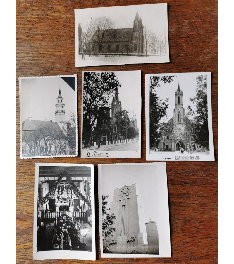 Nuotraukos antikvarinės bažnyčių. Kaina po 2 Eur.