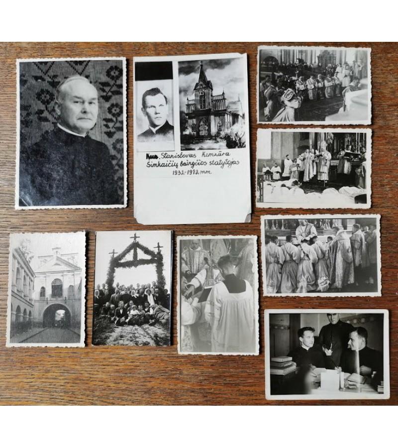 Nuotraukos antikvarinės kunigų, nedidelės. Kaina po 1