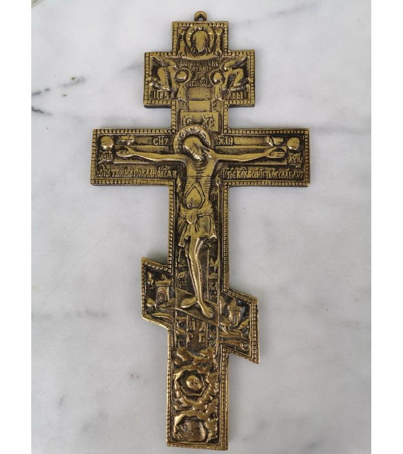 Kryžius provoslavų stačiatikių bronzinis, Svoris 1100 gr. Kaina 157