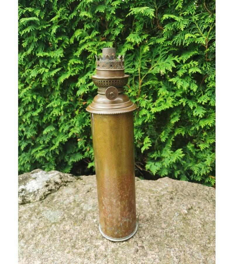 Žibalinė lempa - gilzė, tūta originali. Tranšėjų menas Trench art. Kaina 42