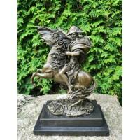 Statula bronzinė Napoleonas ant žirgo. Autorius Pierre-Claude Gautherot, žinomas kaip Claude kopija pagaminta Prancūzijoje. Bronze Figure - Napoleon on Horseback - signed Claude. Kaina 257