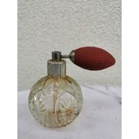 Odekolono buteliukas su gumine kriauše-purkštuku, tarybinis. Veikiantis. Kaina 21