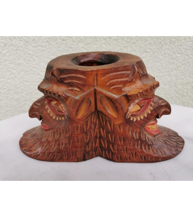 Statulėlė Velniai, medinė, drožinėta, pieštukinė. Kaina 18