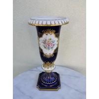 Vaza didelė, porcelianinė, vokiška. Lindner cobalt. Kaina 63