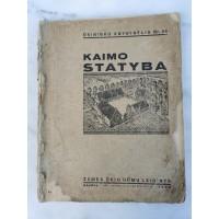 Knyga Kaimo statyba. 1936 m. Kaina 62