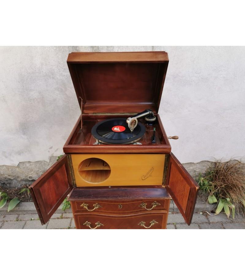 Gramofonas, patefonas antikvarinis Cremona, Polyphon Concert. Kaina 315