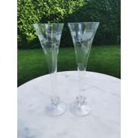 Taurės šampanui vintažinės. 2 vnt. Kaina po 16