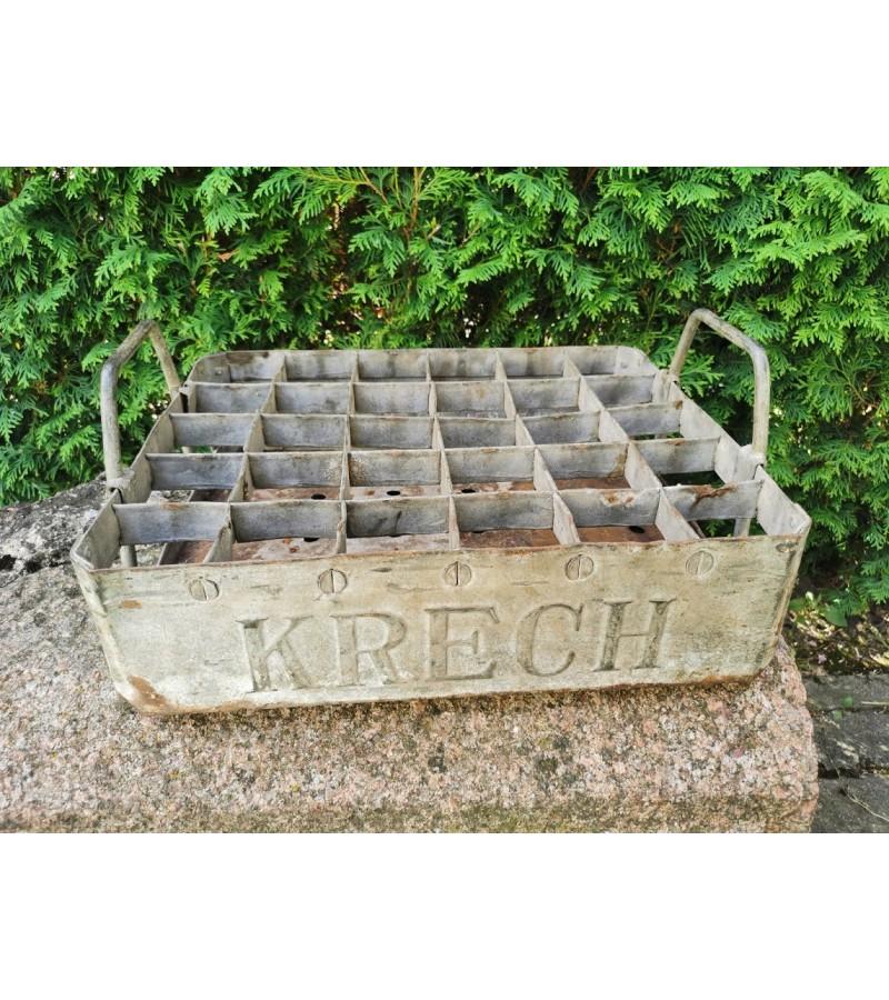 Antikvarinė metalinė KRECH alaus dėžė. Kaina 58