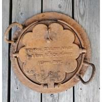 Čirvinių blynų keptuvė vartoma su vokišku blynų receptu. Kaina 52
