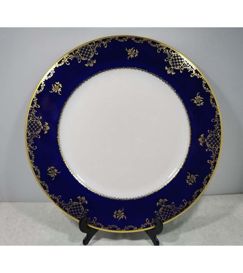 Lėkštė porcelianinė Rosenthal, cobalt blue. Skersmuo 26,5 cm. Kaina 42