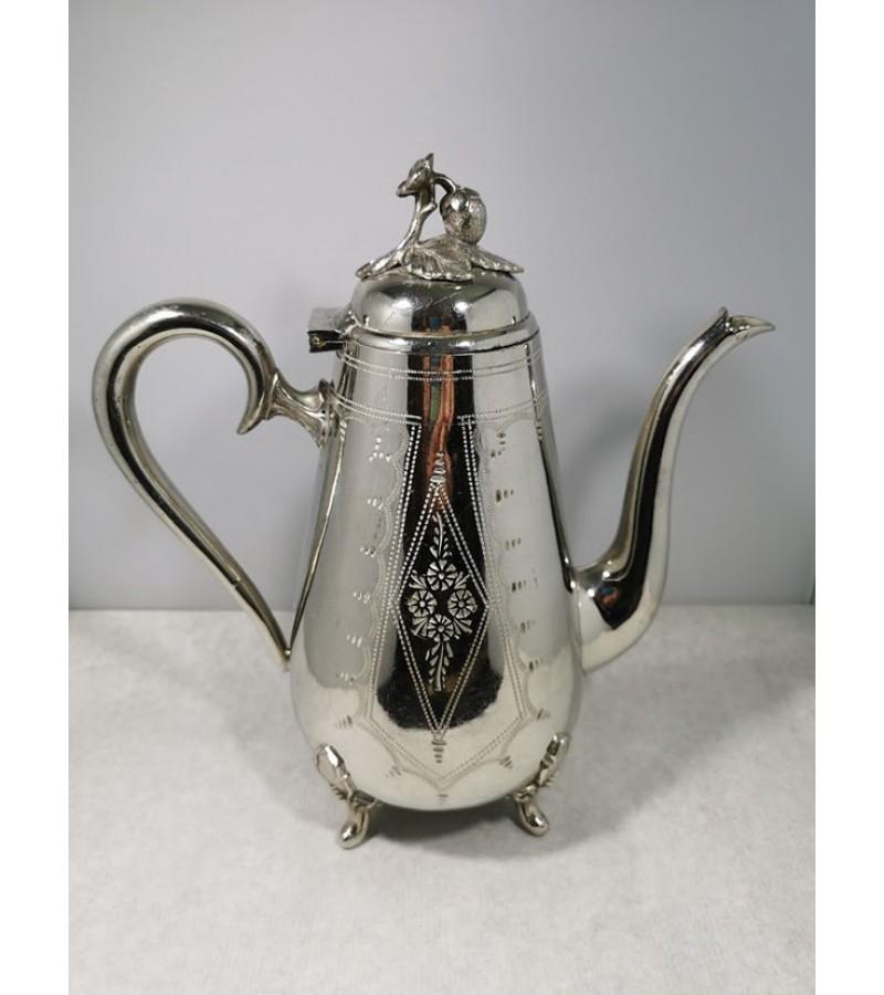 Arbatinis, kavinukas antikvarinis, sidabruotas, angliškas. Kaina 38