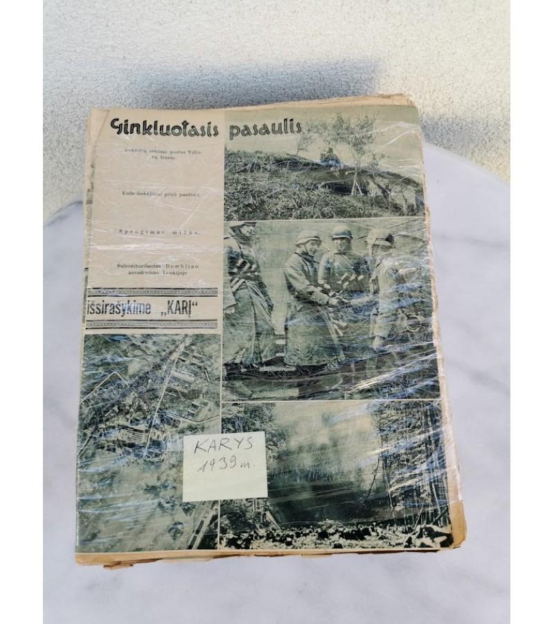 Lietuvos tarpukario žurnalų KARYS, 1939 m. rinkinys. Kaina 127