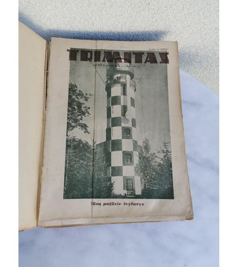 Lietuvos tarpukario žurnalų TRIMITAS, 1934 m. rinkinys. Kaina 127 už visus.
