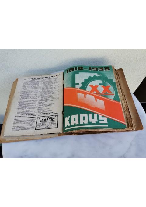 Lietuvos tarpukario žurnalų KARYS, 1938 m. rinkinys. Kaina 127 už visus