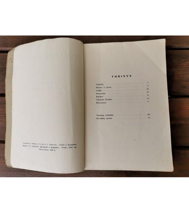 Knyga Vilniaus Menas. Dr. Mikalojus Vorobkovas. 1940 m. Kaina 46