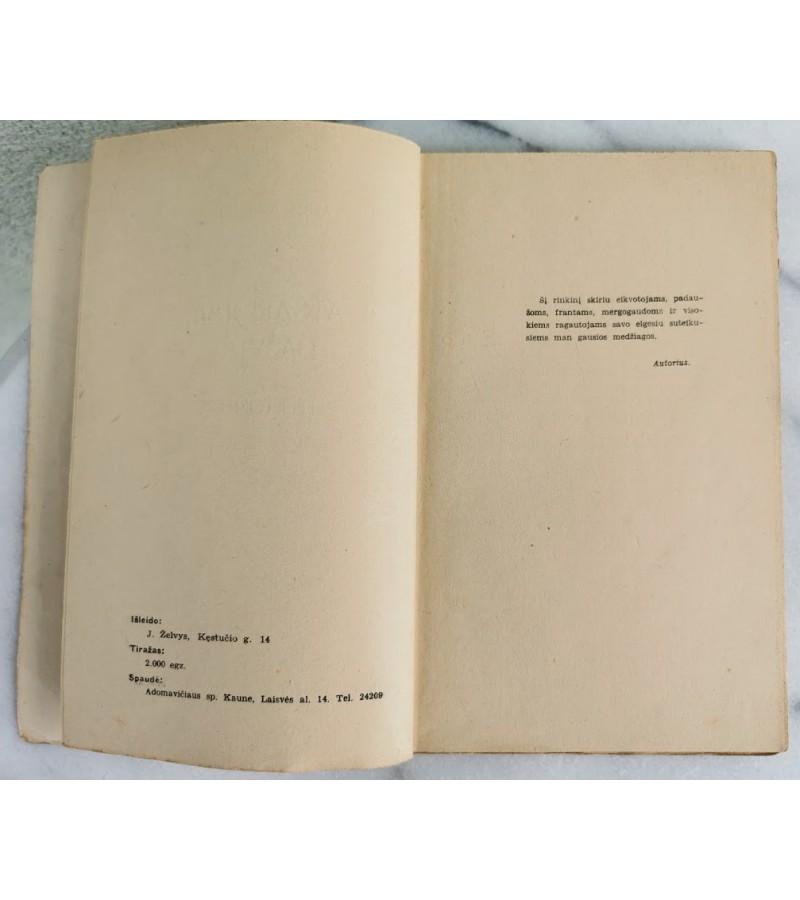 Knyga Atsargiai, dažyta. Feljetonai. Alb. Zebediejus. 1939 m. Kaina 12