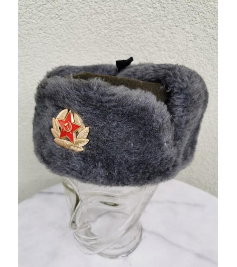 Kepurė uniforminė, žieminė, tarybinė, kariška. Dydis 58. Kaina 32