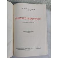 Knyga Vaikystė ir jaunystė. Sąmonės genezė. Charlotte Buhler. 1938 m. Kaina 18