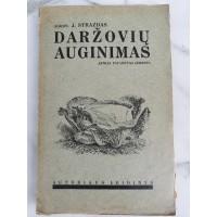 Knyga Daržovių auginimas. J. Strazdas. 1942 m. Kaina 12