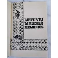 Knyga Lietuvių liaudies melodijos Lithuanian folk-melodies. Jadvyga Čiurlionytė. 1938 m. Kaina 92