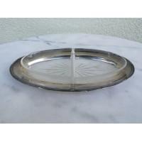Padėklas antikvarinis išimamais stiklais Art Deco stiliaus. Kaina 18