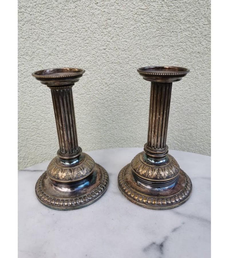 Žvakidės porinės, antikvarinės. 2 vnt. Kaina po 21