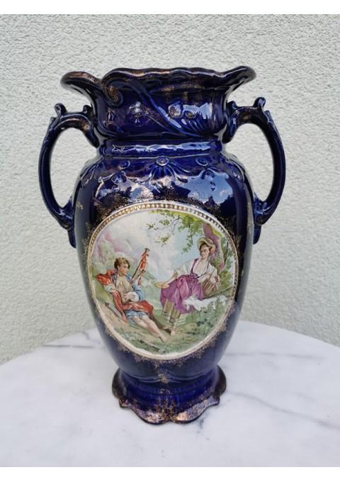 Vaza antikvarinė, fajanso. XX a. pirma pusė. Anglija. Kaina 87