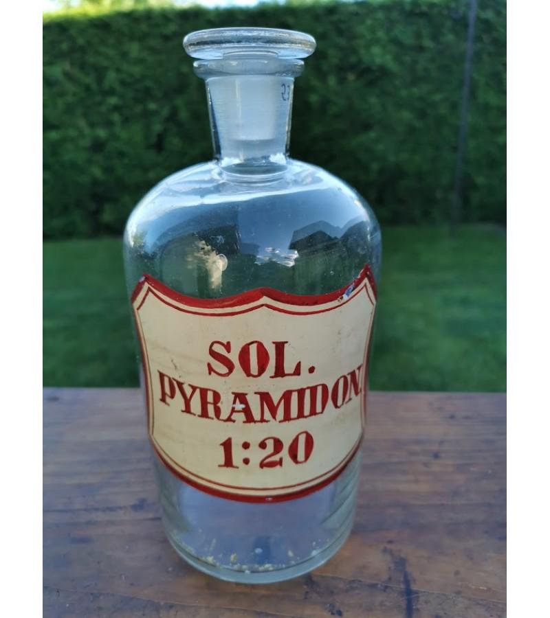 Antikvarinis vaistinės vaistų butelis. Kaina 28