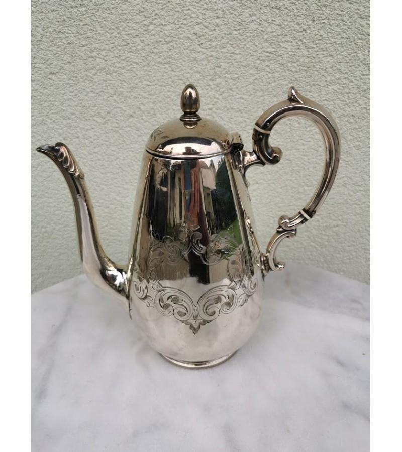 Arbatinis/kavinukas sidabruotas, antikvarinis. Kaina 38
